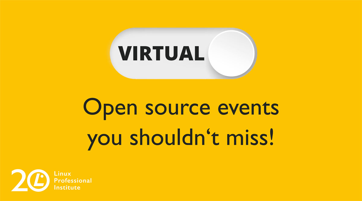 Graphic telling that there are virtual events you shouldn't miss