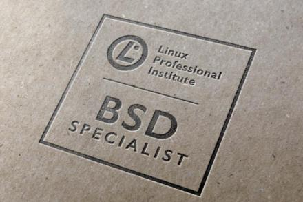 LPI BSD Specialist certification logo on paper