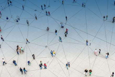 Image showing people connected to each other