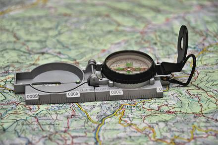 Compass on map: Image by PixLord from Pixabay