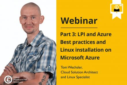 Webinar announcement image LPI and Azure showing Tom Wechsler