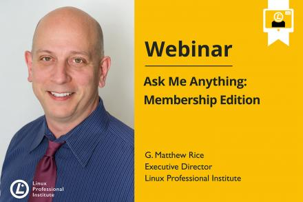 Webinar announcement image with G. Matthew Rice