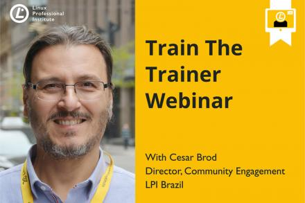 Train the Trainer Webinar invite image with trainer Cesar Brod