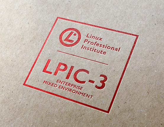 LPIC-3 Enterprise Mixed Environment logo on paper background