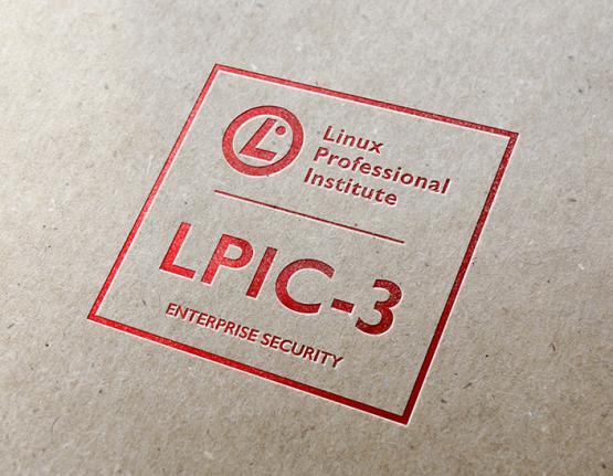 LPIC-3 Enterprise Security logo on paper background
