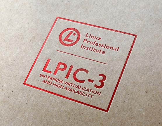 LPIC-3 Enterprise Virtualization and High Availability logo on paper background